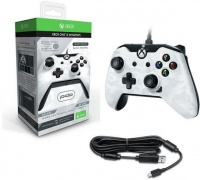 PDP Deluxe Wired Controller - White Camouflage Photo