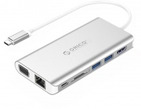 Orico Type-C 8in1 Universal Docking Station - Silver Photo