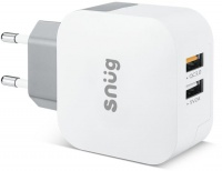 Snug Qualcomm Quick Charge 3.0 2-Port USB Home Mobile Charger - White Photo