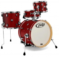 PDP New Yorker 4 pieces Acoustic Drum Kit - Ruby Sparkle Photo