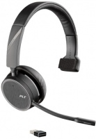 Plantronics Plantronic Voyager B4220 UC Series Wireless Monaural Headset with USB Dongle - Black Photo