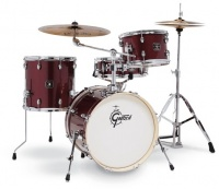 Gretsch GE4S484RS Energy Kit Series 4 pieces Street Kit Acoustic Drum Kit with Meinl Cymbals and Hardware - Ruby Sparkle Photo