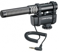 Audio Technica AT8024 Stereo and Mono Camera Microphone with Mount Photo