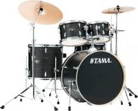 TAMA IE62H6W-BOW Imperialstar 6 pieces Acoustic Drum Kit with Hardware - Black Oak Wrap Photo