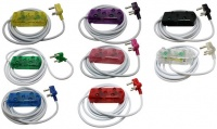 Ellies 3m 10a Extension Cable - Purple and White Photo