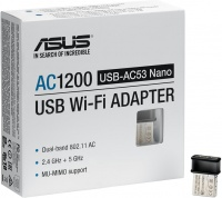 ASUS USB-AC53 Nano AC1200 Dual-Band USB Wi-Fi Adapter - Black Photo