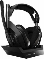 ASTRO Gaming ASTRO - A50 4th Generation Gaming Headset Base Station 7.1 - Black/Silver Photo