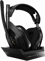 ASTRO Gaming ASTRO - A50 4th Generation Gaming Headset Base Station 7.1 - Black/Gold Photo