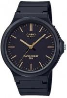 Casio Analog Wrist Watch - Black and Gold Photo