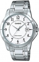 Casio Enticer Series Stainless Steel Mens Analog Wrist Watch - Silver and White Photo