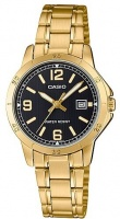 Casio Stainless Steel Womens Analog Wrist Watch - Gold and Black Photo