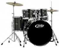 PDP Centerstage 5 pieces Acoustic Drum Kit with Hardware and Cymbals - Onyx Sparkle Photo