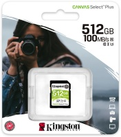 Kingston Technology - SDS2/512GB Canvas Select Plus SD Card Class 10 UHS-I 512GB Memory Card Photo