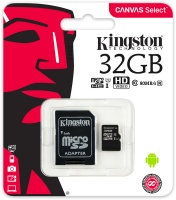 Kingston Technology - Canvas Select SDCS/32GB MicroSDClass 10 UHS-I 32GB Memory Card Photo