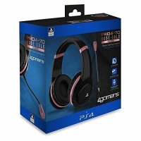 4Gamers - ABP PRO4-70 Rose Gold Headset - Black Photo
