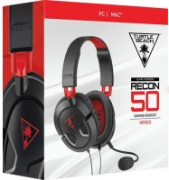 Turtle Beach - Ear Force Recon 50 Wired Gaming Headset - Black & Red Photo