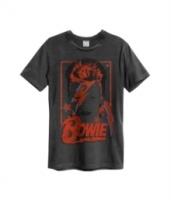 David Bowie - Aladdin Sane Amplified Vintage T-Shirt - Charcoal Photo