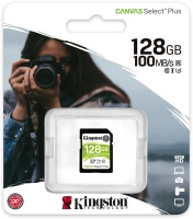 Kingston Technology - 128GB Canvas Select Plus SDXC Flash Memory Card Class 10 Photo
