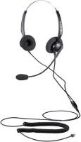 Calltel - T800 Stereo-Ear Noise-Cancelling Headset RJ9 Standard - Black Photo