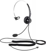 Calltel - T800 Mono-Ear Noise-Cancelling Headset RJ9 Reverse - Black Photo