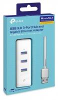 """TP LINK TP-Link UE330 USB 3.0 3-Port Hub & Gigabit Ethernet Adapter 2"""" 1 USB Adapter Photo"""