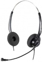 Calltel H550 Stereo-Ear Noise-Cancelling Headset - Black Photo