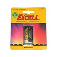 Excell 9v Alkaline Battery Card 1 LR61 Photo