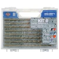ALPEN SDS Plus Drill Bit Set 8 Piece In Plastic Carry Case Photo