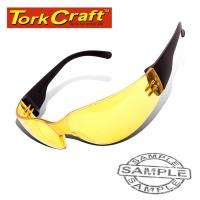 Tork Craft Safety Eyewear Glasses Yellow In Poly Bag Photo