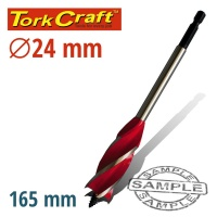Tork Craft 4 Flute Wood Boring Bit 24mm Photo