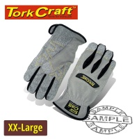 Tork Craft Mechanics Glove 2x Large Synthetic Leather Palm Spandex Back Photo