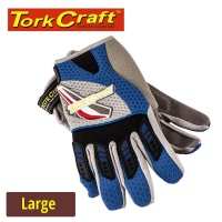 Tork Craft Mechanics Glove Large Synthetic Leather Palm Spandex Back Photo