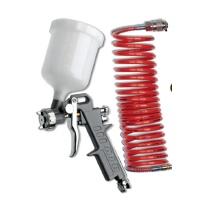 AIR CRAFT Grav Feed Spray Gun 1.5mm Nozzle With 5m Spiral Hose Photo