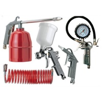 AIR CRAFT Five Pce Kit G Feed Sp Gun Air Dust Par Washer Tyre Inf & Spir Hose Photo