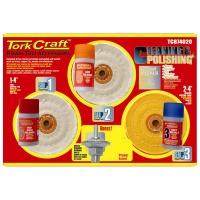 Tork Craft Cleaning & Polishing Kit - Soft Metals C/W 12.5mm Arbor Photo