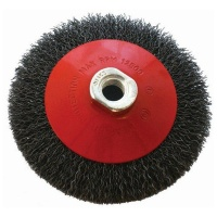 Tork Craft Wire Cup Brush Crimped Bevel Plain 115mmxm14 Blister Photo
