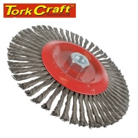 Tork Craft Wire Cup Brush Single Section Twisted Plain 175mmxm14 Blister Photo