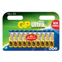 GP Batteries GP AA Ultra Plus Alkaline 10 Carded Photo