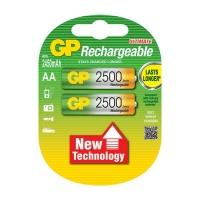 GP Batteries GP 2500 MAH NIMH AA Card 2 Batteries Photo