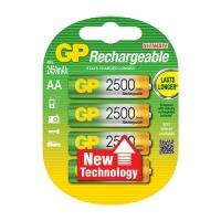 GP Batteries GP AA 2500 MAH NIMH 4 Pack Batteries Photo