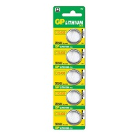 GP Batteries GP CR 2430 Lithium Battery 5 Pack Photo