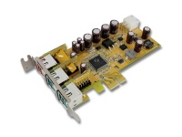 Sunix 1-port 24V & 2-port 12V Powered USB PCI Express Low Profile Add-On Card Photo