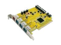 Sunix 1-port 24V & 3-port 12V Powered USB PCI Add-On Card Photo
