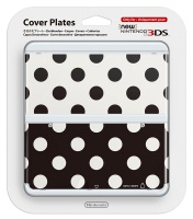 Nintendo new 3DS Cover Plates 15 - Black & White Dots Photo