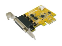 Sunix 2-port RS-232 High Speed PCI Express Low Profile Board with Power Output Add On Card Photo