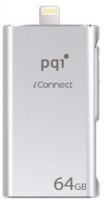 PQI iConnect 128GB USB 3.0/Apple Certified MFi lightning Dual Flash Drive - Gold Photo