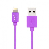 PQI - Apple Certified 90cm Flat cable length Lightning 8-Pin Syncing and Charging - Blue Photo