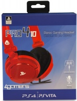 4Gamers 4 Gamers PR04-10 Stereo Gaming Headset - Red Photo