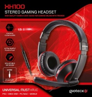 Gioteck - XH100 Wired Stereo Headset - Black/Red Photo
