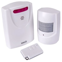 Ellies Battery Operated Pir Motion Wireless Alarm With Ir Remote Photo